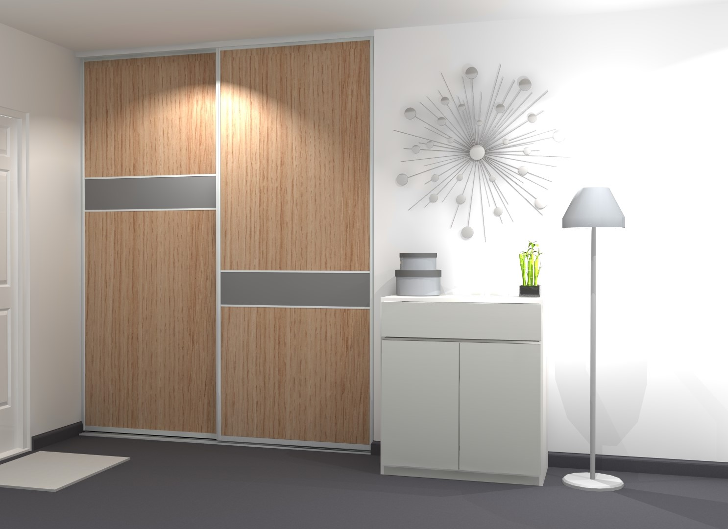 portes de placard design blanc et bois porte. Black Bedroom Furniture Sets. Home Design Ideas