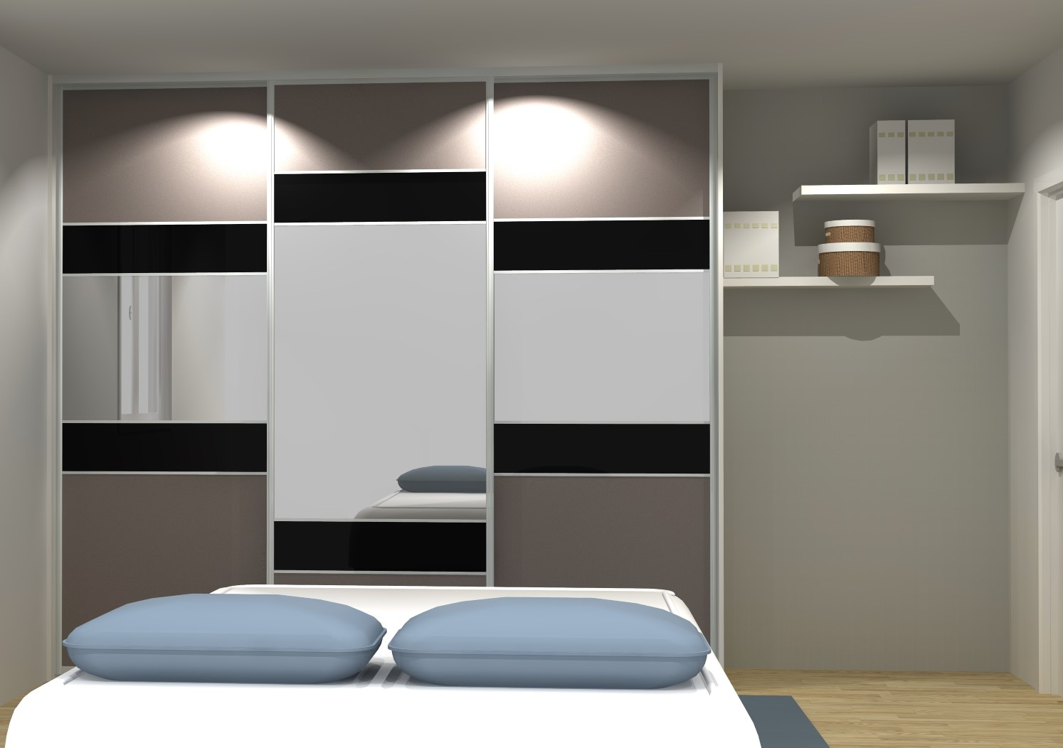 porte de placard coulissante sur mesure portedeplacard. Black Bedroom Furniture Sets. Home Design Ideas